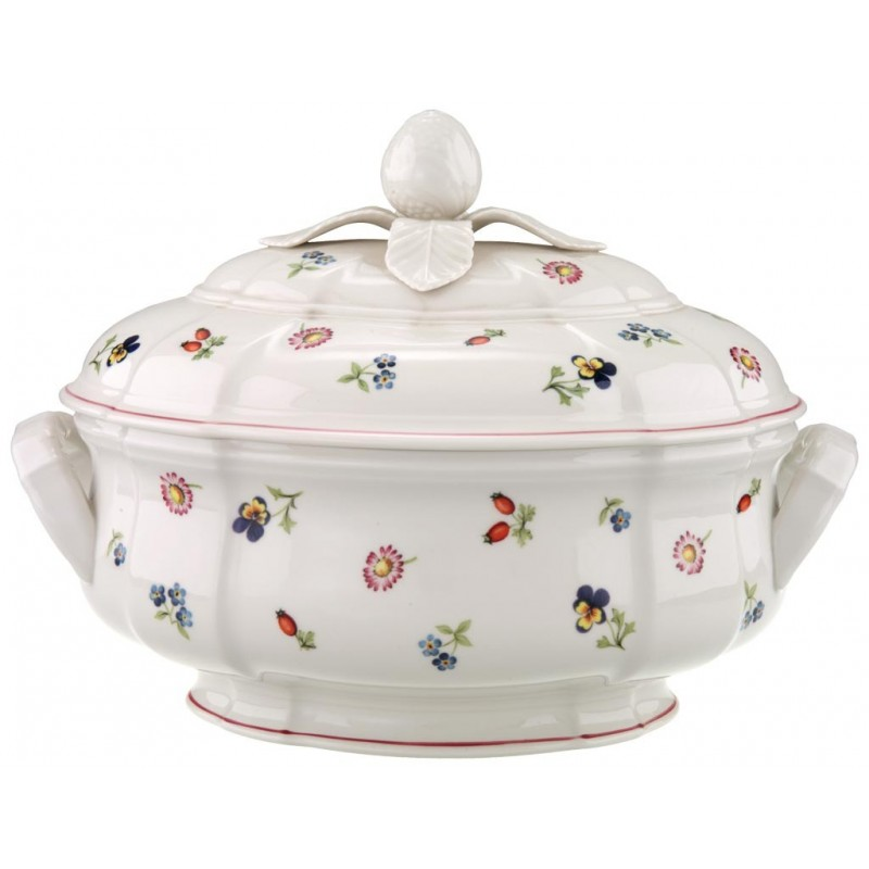 zuppiera villeroy boch ovale in porcellana petit fleur. Black Bedroom Furniture Sets. Home Design Ideas