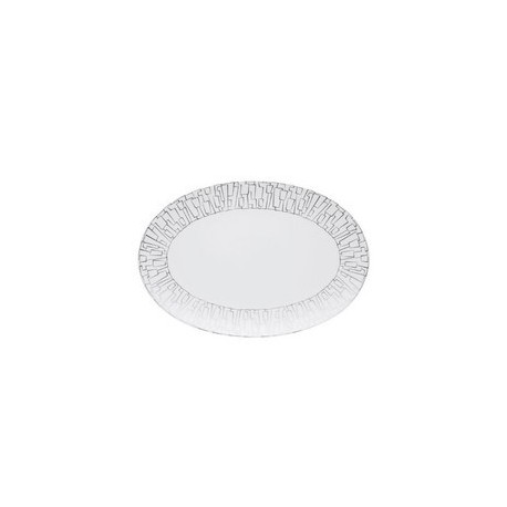 Piatto ovale Rosenthal Tac Skin Platin cm 25
