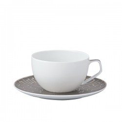 Tazza caffe' con piatto Rosenthal Tac Skin Platin