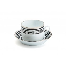 Tazza caffe' con piattino Richard Ginori impero labirinto nero