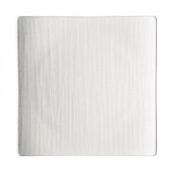 Piatto dessert quadrato Rosenthal Mesh Bianco 22 cm