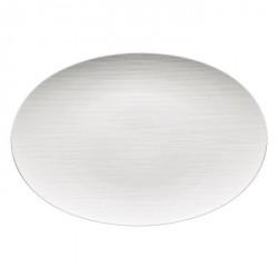 Piatto ovale Rosenthal Mesh Bianco 38 cm