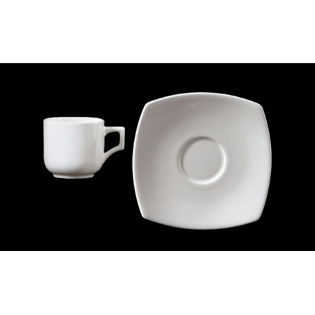 Tazza thè quadra c/piatto Vela Bianco Richard Ginori