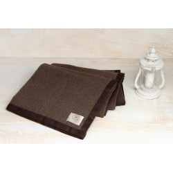Coperta puro cashmere matrimoniale CO.BI brown