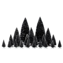 Lemax Assorted Pine Trees set of 21
