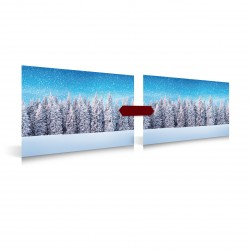 My Village Set Snow Forest 78 cm x 58 cm