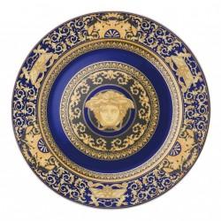 Piatto rotondo Versace Medusa blue