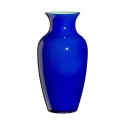 Vaso in vetro di Murano Carlo Moretti Pirus opalino cm 34