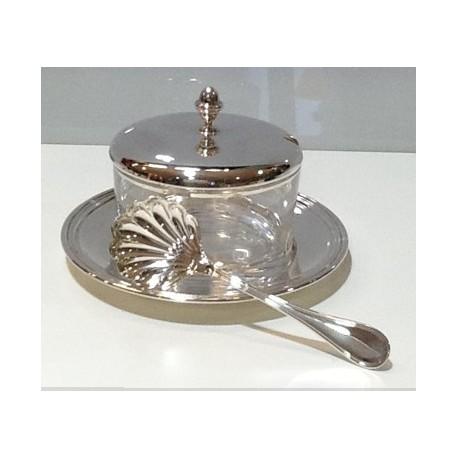Zuccheriera in arento 925 con cucchiaio servire Inglese