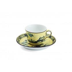 Tazza caffe' con piatto Richard Ginori Oriente Italiano Citrino