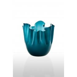 Fazzoletto Venini in vetro opalino orizzonte acquamare