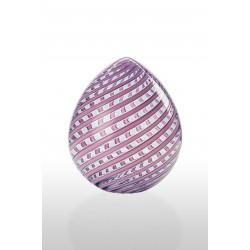 Uova a canne Venini rosa opaco glicine cm 26
