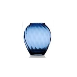Vaso in vetro colorato Galbiati blu notte ottico cm 25