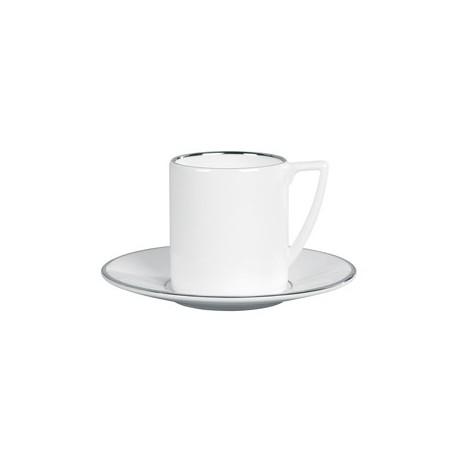 Tazza caffè con piatto Wedgwood Jasper Conran Platinum