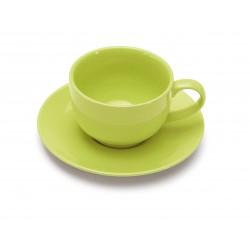Tazza colazione con piatto colorata Giannini colours