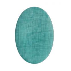 Piatto ovale Rosenthal Mesh aqua cm 34