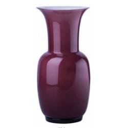 Vaso Venini murano in vetro opalino viola cm 30