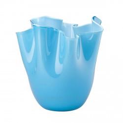 Fazzoletto Venini in vetro bicolore acquamare