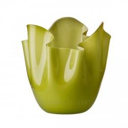 Fazzoletto Venini in vetro bicolore bamboo