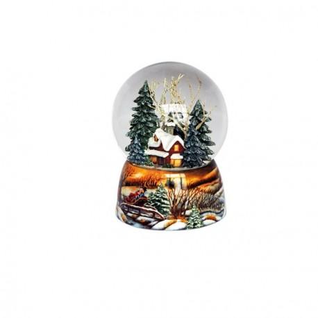 Carillon Palla di neve foresta invernale Il Mondo dei Carillon