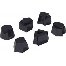 Set di 6 timballi in silicone Alessi Il tempo della festa nero