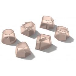 Set di 6 timballi in silicone Alessi Il tempo della festa pesca