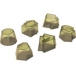 Set di 6 timballi in silicone Alessi Il tempo della festa kiwi
