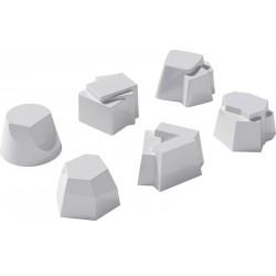 Set di 6 timballi in silicone Alessi Il tempo della festa bianco