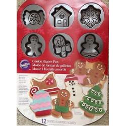 Stampo 12 biscotti Wilton natale