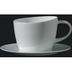 Tazza tè con piatto Richard Ginori Eclissi bianco