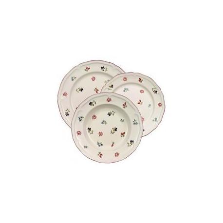 Servizio di piatti Villeroy & boch Petite fleur in porcellana 18 pezzi