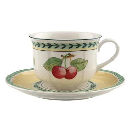 Tazza colazione Villeroy & boch French garden con piatto in porcellana