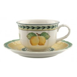 Tazza te' Villeroy & boch French garden con piatto in porcellana