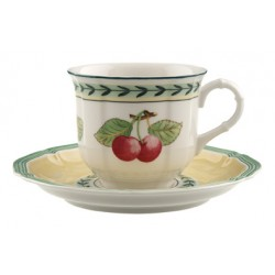 Tazza espresso Villeroy & boch French garden con piattino in porcellana