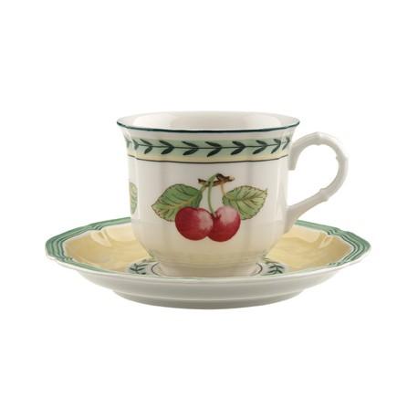Tazza Villeroy & boch da espresso con piattino in porcellana French Garden
