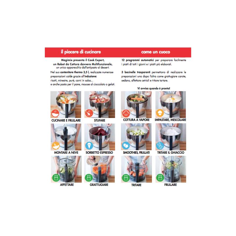Cook expert magimix robot con cottura multifunzione rosso - Robot multifunzione con cottura ...