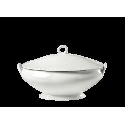Zuppiera ovale c/coperchio Richard Ginori Impero bianco lt 4