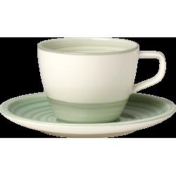 Tazza caffe con piatto Artesano Nature Vert Villeroy & Boch