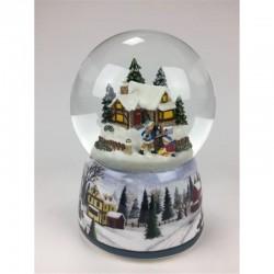 Carillon Palla di neve posta di Natale Il mondo dei carillon