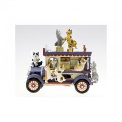 Carillon vagone cremeria con gatti Il mondo dei carillon