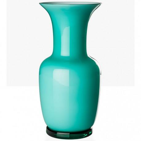 Vaso Venini murano in vetro opalino rosso cm 22