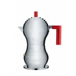 Caffettiera espresso Pulcina Alessi 3 tazze rossa