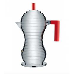 Caffettiera espresso Pulcina Alessi 6 tazze rossa