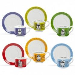 Set 6 tazze caffe' con piatto Egan Disney banda bassotti con scatola regalo