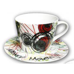 Tazza cappuccino con piatto Egan Disney Mikey mouse Topolino