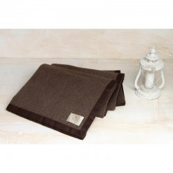Coperta pure cashmere CO.BI singola brown