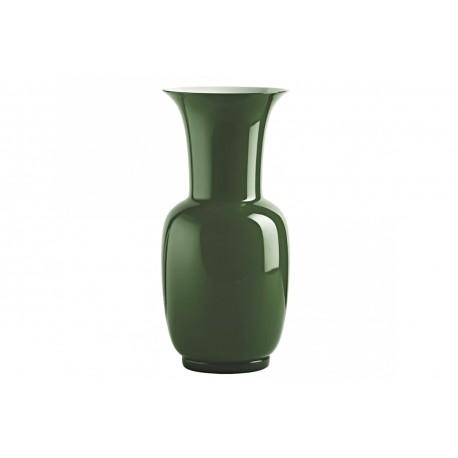 Vaso Venini murano in vetro opalino verde mela cm 30