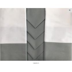 Tovaglia rettanolare Piazza Pitti Firenze Giada con 8 tovaglioli - bianco-grigio