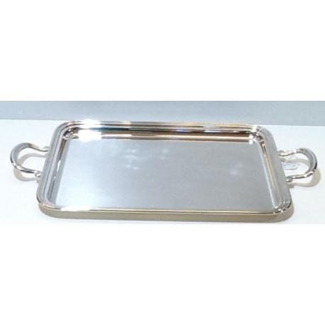 Vassoio Silver rettangolare con manici stile Inglese OLRI