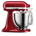 Robot Kitchenaid Artisan 4,8 L rosso mela metallizzato 185 con accessori in acciaio